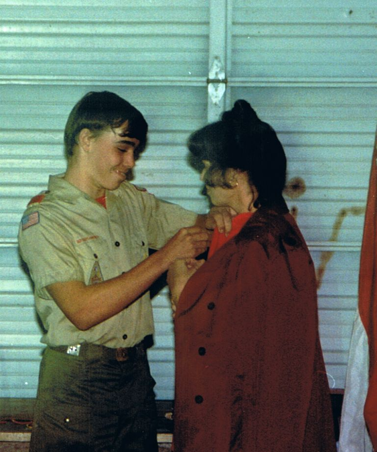 December 12th 1988 Mark's Scout Ceremony