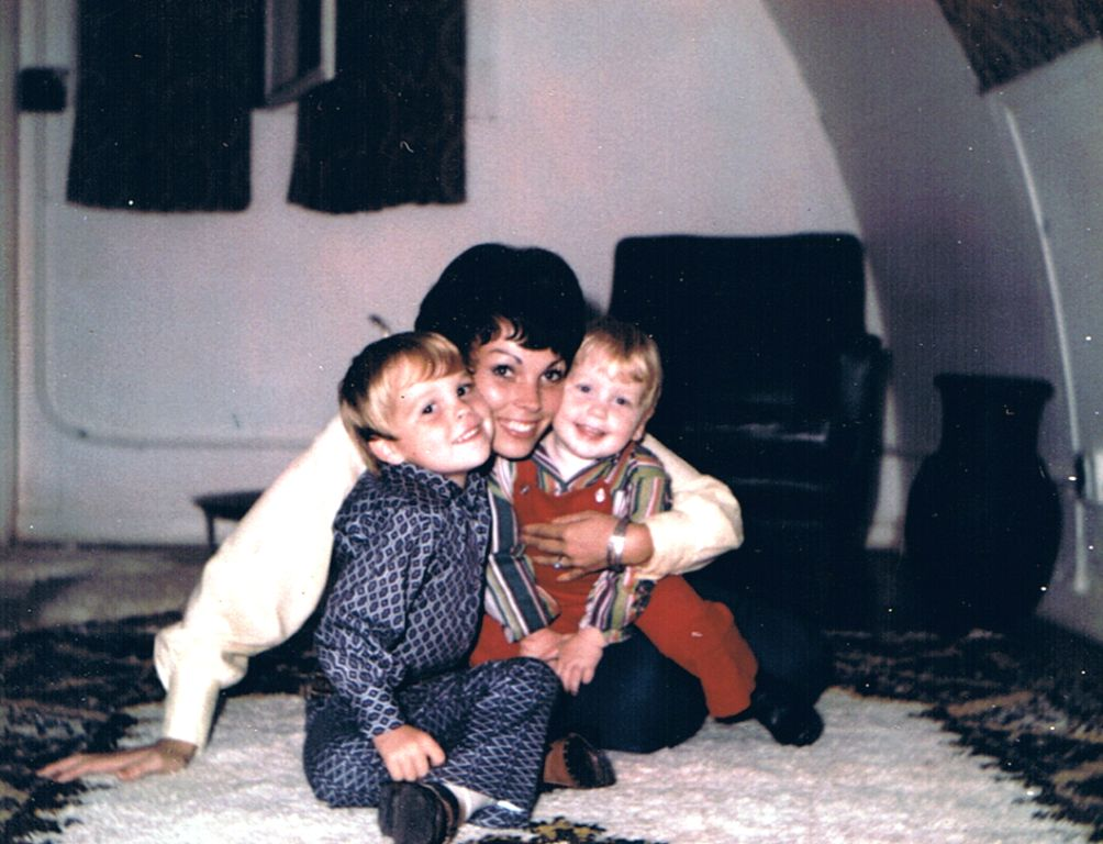 Mom with Todd & Michael in Kenitra, Morocco early 1970's